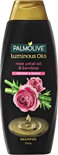 Palmolive Luminous Oils Hair Shampoo Rose Petal Oil and Bamboo Restore and Renew, 350mL