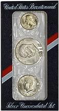 1976 US Mint Silver 3-pc Bicentennial Uncirculated Coin Set OGP Uncirculated
