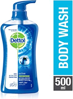Dettol Active Anti-Bacterial Body Wash 500ml