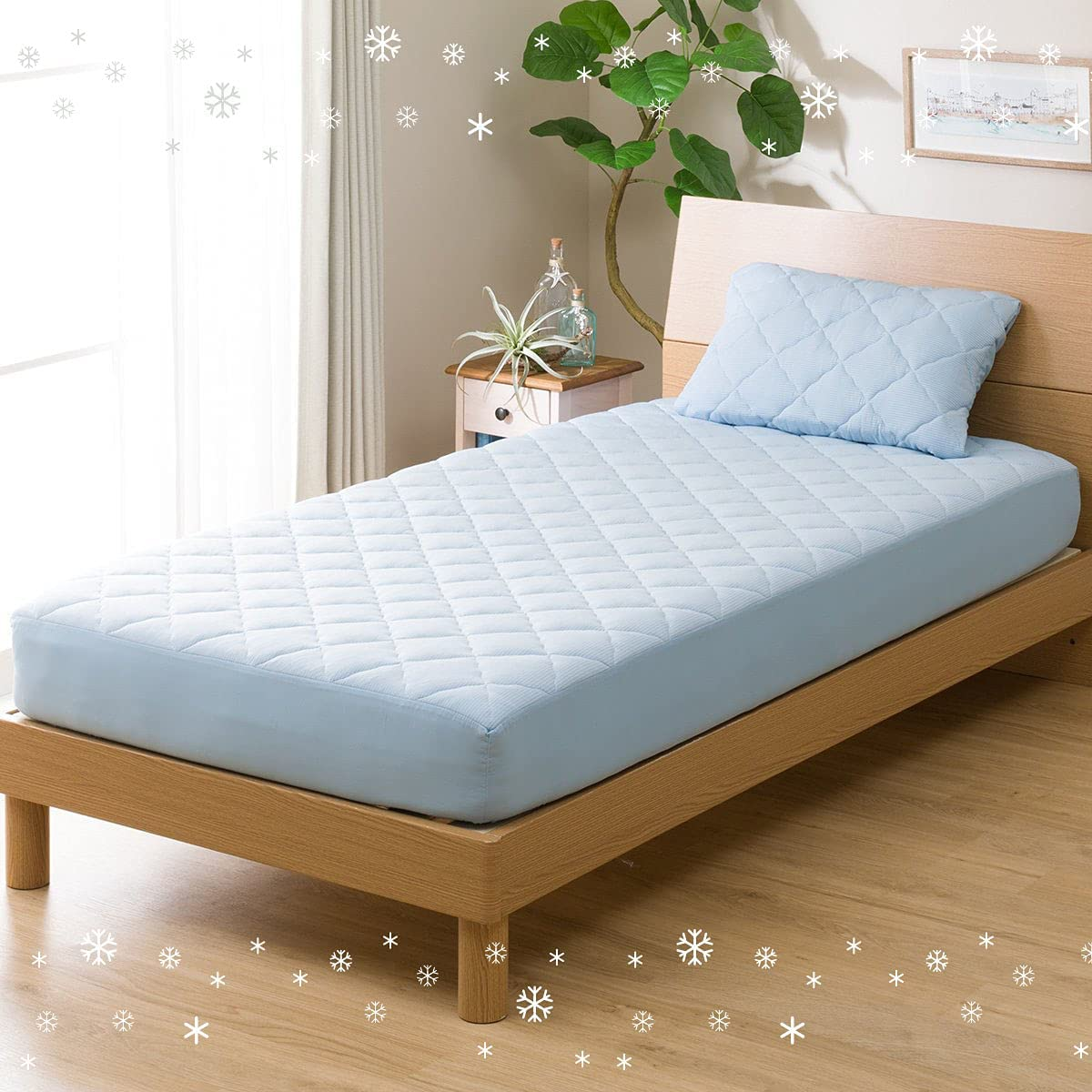 Aki-Home 67% OFF of fixed price Cooling Fitted Max 72% OFF Mattress Pad Spandex N-Cool Cool-to-Th