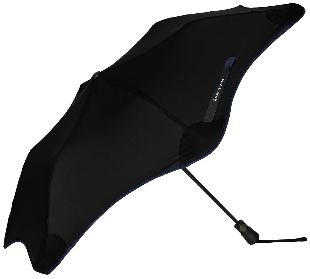 以前は動いたずら(ムーンバット)MOONBAT ブラント METRO 婦人折りたたみ傘 (耐風傘)無地×パイピング