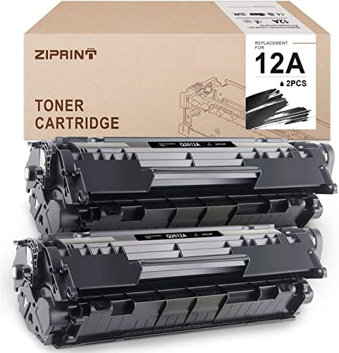 new arrival ZIPRINT Compatible Toner Cartridges Replacement for HP 12A Q2612A for HP Laserjet 1010 1020 1012 1022 1022n 3015 3055 1018 popular 3030 Canon Imageclass D420 sale D450 D480 MF4150 MF4350D MF4270(Black, 2-Pack) outlet sale