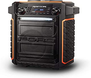 ION Audio Raptor | Ultra-Portable 100-Watt Wireless Water-Resistant Speaker with 75-Hour Rechargeable Battery, Bluetooth S...