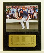 Sergio Garcia 2017 Masters Tournament Champion Celebrating After Making Final putt Picture Plaque with Engraved Scorecard