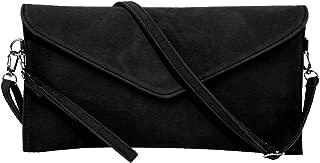 Women's Faux Suede Evening Clutch Bag Crossbody Bag Shoulder Handbag