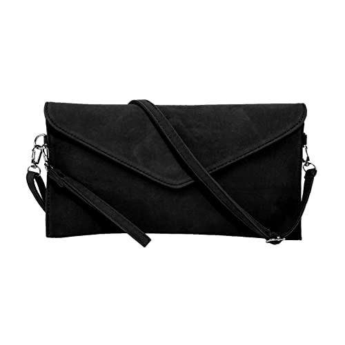 Womens Designer Faux Suede Clutch Bag Suede Cross Body Bag Small Satchel Bag