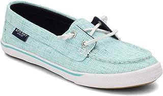 Sperry Women's, Lounge Away Boat Shoe Cross Turquoise 8.5 M
