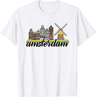 Amsterdam T-shirt Vintage Souvenir windmill Holland Gift  T-Shirt