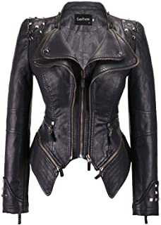 Women's Fashion Studded Perfectly Shaping Faux Leather...