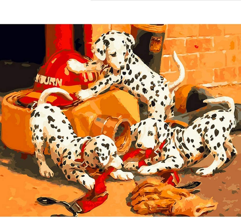 Waofe  Diy Rahmen Dalmatiner Diy Malen Nach Zahlen Tiere Home Wandkunst Leinwand Bild Malen Nach Zahlen Für Room Decor 40X50 B07PNVFYFC | Spielzeugwelt, fröhlicher Ozean