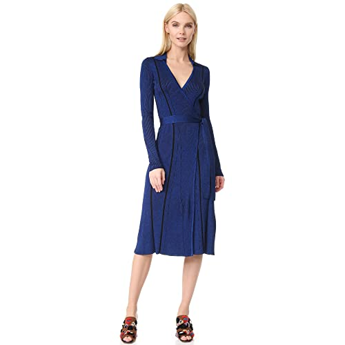 97b57c392f Diane von Furstenberg Women s Long Sleeve Wrap Dress