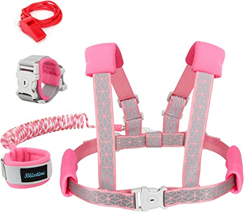Blisstime 2 in 1 Reflective Toddler Leash -Anti Lost Wrist Link for Toddlers -Toddler Harness,Baby Leash,Leash for To...