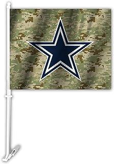 NFL Dallas Cowboys Camo Autofahne Grün One Size