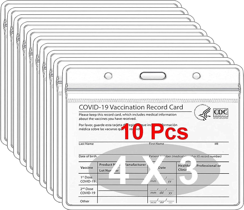 Ranking TOP11 CDC Vaccination Card Protector - 4 X in Sl Plastic Vinyl Clear San Antonio Mall 3