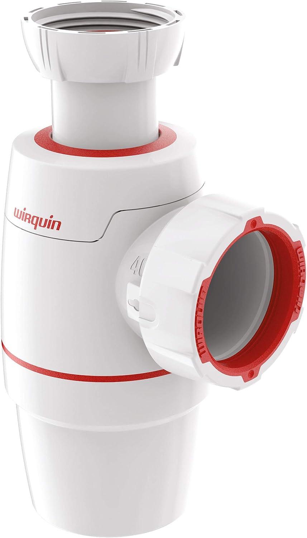 Wirquin 30722150 Neo 30722150-Sifón de Fregadero, diámetro 40, Blanco