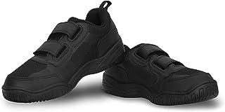 NIVIA - - Step Out & Play 1056BK Mesh Scholars School Shoe1(Black) Outer Material: Mesh PVC