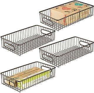 cesta de almacenamiento de alambre de metal para cocina 2 cestas colgantes de almacenamiento gabinete para colgar debajo del estante oficina ba/ño negro despensa