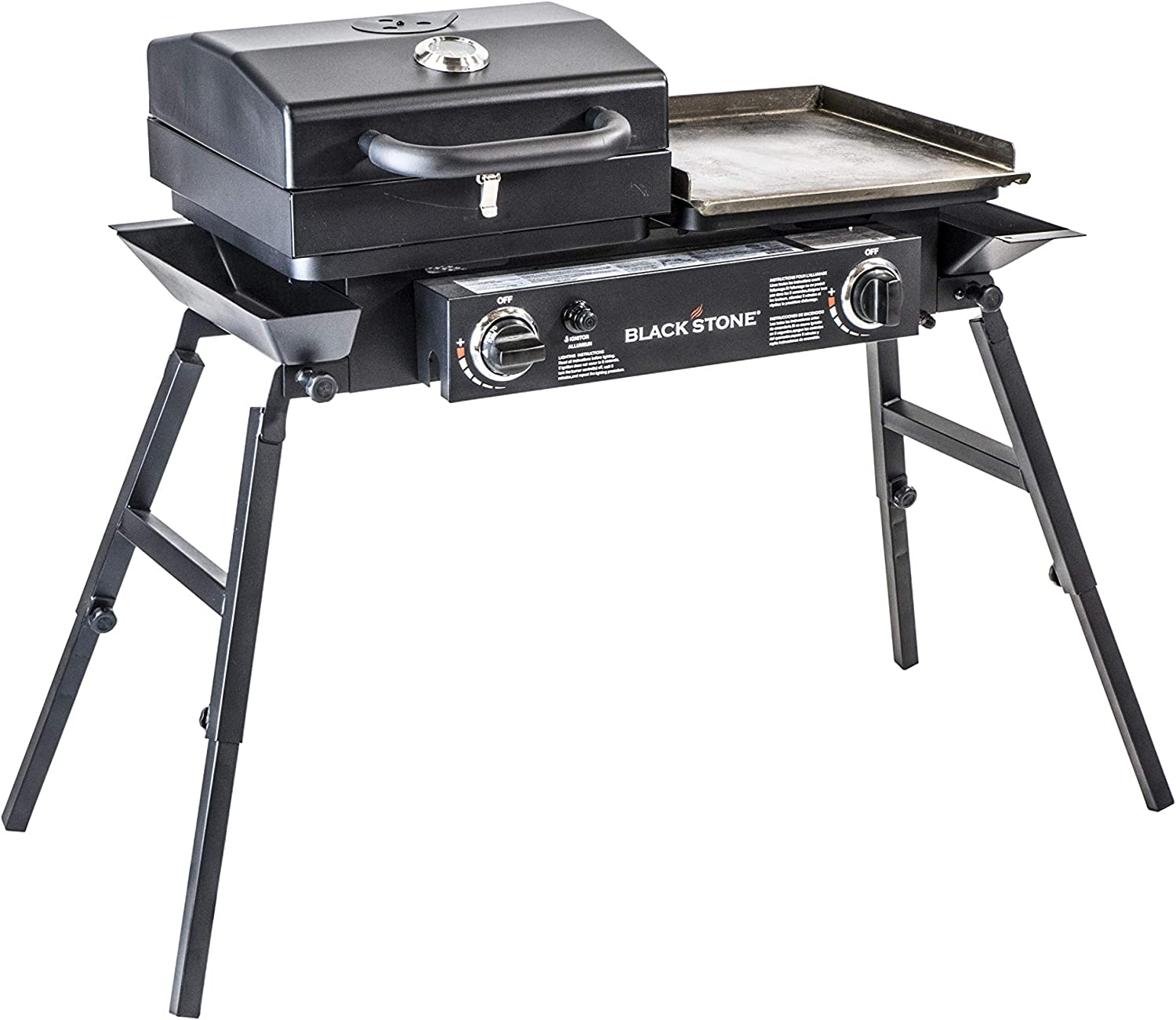 Amazon Com Blackstone Tailgater Portable Gas Grill And Griddle Combo Garden Outdoor