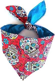 Sugar Skull Cinco de Mayo Day of the Dead Dia de los Muertos Neckwear Headband Cat Dog Bandana