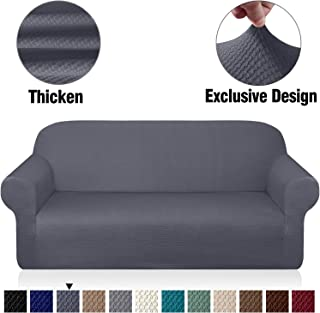 Granbest Thick Sofa Covers for 3 Cushion Couch Stylish Pattern Couch Covers for Sofa Stretch Jacquard Sofa Slipcover for Living Room Dog Pet Furniture Protector
