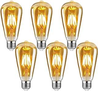 Edison vintage glödlampa, E27 4W Edison LED-lampa varmvit retro glödlampa vintage antik glödlampa idealisk för nostalgi oc...