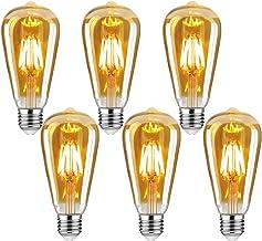 Edison Vintage gloeilamp, E27 4W Edison LED-lamp, warm wit, retro gloeilamp, vintage antieke gloeilamp, ideaal voor nostal...