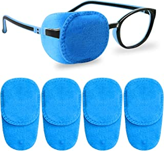 NICEUPPER 4 Pack Eye Patches for Kids Girls Boys, Soft Eye Patch for Glasses, Medical Eye Patch for Children Treating Lazy...