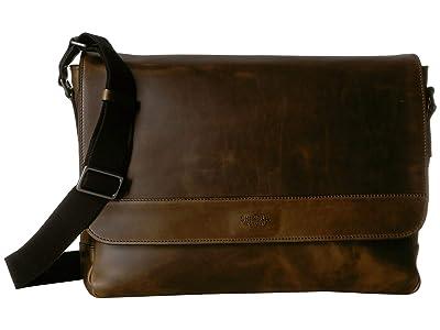 Shinola Detroit Slim Messenger (Moss) Bags