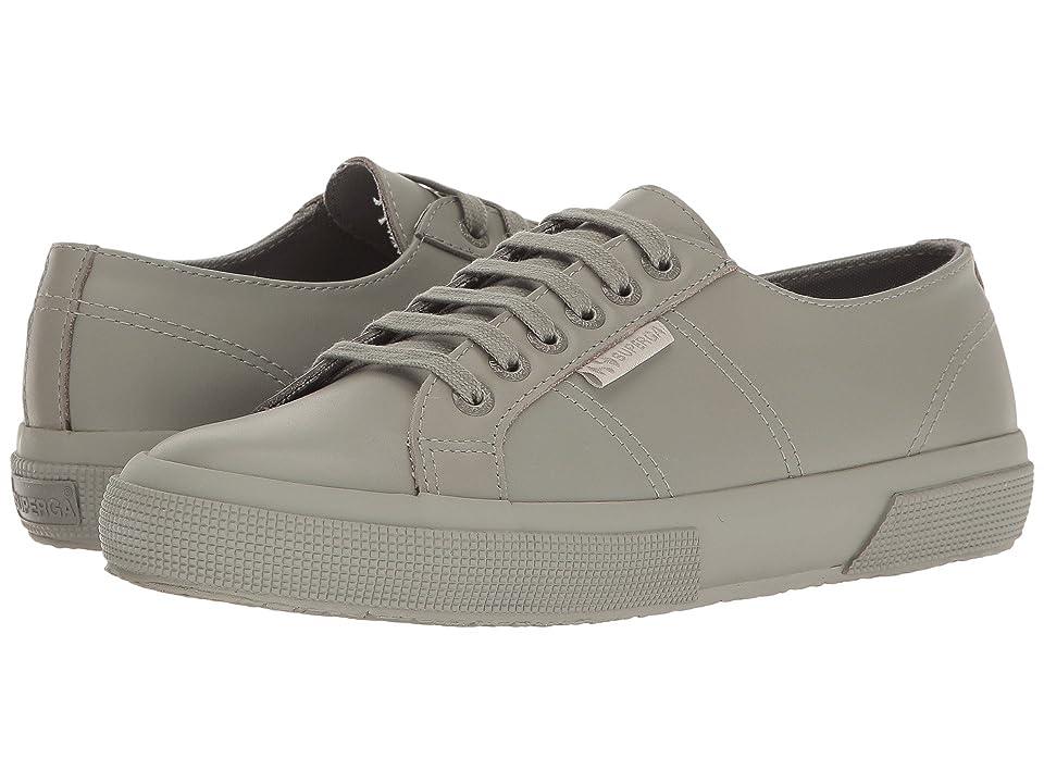 Superga 2750 FGLU Sneaker (Fossil Grey Leather) Women