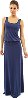PattyBoutik Women Sleeveless Blouson Maxi Dress