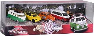 'Dickie Majorette 212057615 VW The Originals Gift Set - 5 Miniature Mini Vehicles Toy Cars Die-Cast, 7.5 cm
