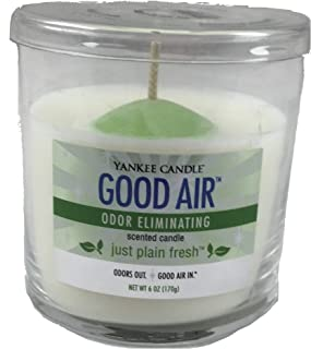 Yankee Candle Just Plain Fresh Good Air Odor Eliminating Small Single Wick Tumbler Candle White