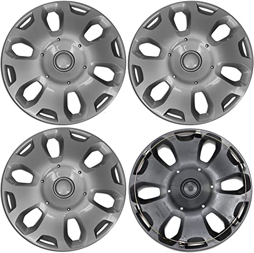 new arrival 15 inch popular Hubcaps Best for 2010-2013 Ford Transit - lowest (Set of 4) Wheel Covers 15in Hub Caps Silver Rim Cover - Car Accessories for 15 inch Wheels - Snap On Hubcap, Auto Tire Replacement Exterior Cap online