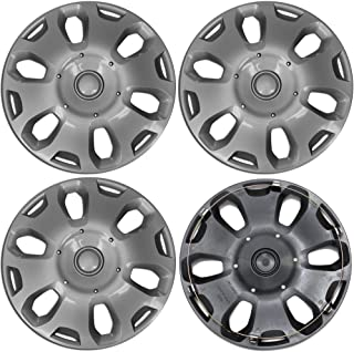 15 inch Hubcaps Best for 2010-2013 Ford Transit - (Set of 4) Wheel Covers 15in Hub Caps SIlver Rim Cover - Car Accessories for 15 inch Wheels - Snap On Hubcap, Auto Tire Replacement Exterior Cap)