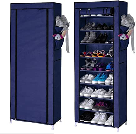 12538c4691e Keekos 9 Layer Multipurpose Portable Folding Shoes Rack Shoe Shelf Shoes  Cabinet with Wardrobe