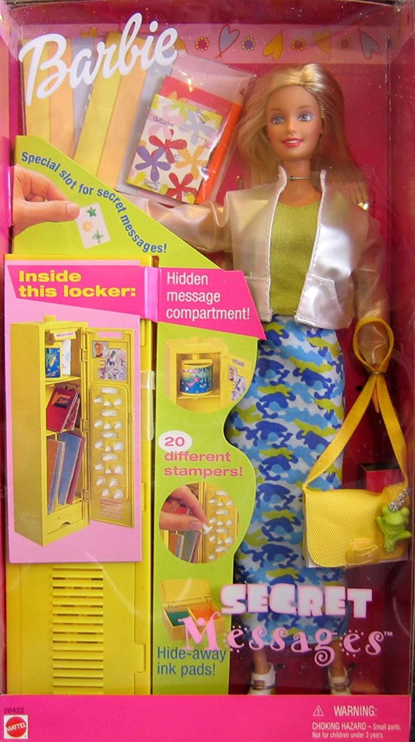 Barbie SECRET MESSAGES Doll w LOCKER, STAMPERS & MORE  (1999)