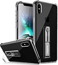 Henpone Clear iPhone Xs Max Case, Protective Phone Cover with Kickstand Ring Stand Holder Compatible for iPhone Xs Max 6.5'' - Crystal Clear