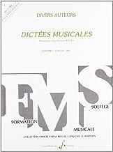 Dictées Musicales Volume 1 - Professeur (FORMATION DE L'OREILLE)