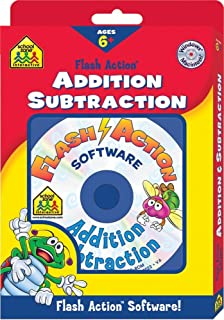 Addition and Subtraction Flash Action Software (School Zone Interactive Flash Action Software)