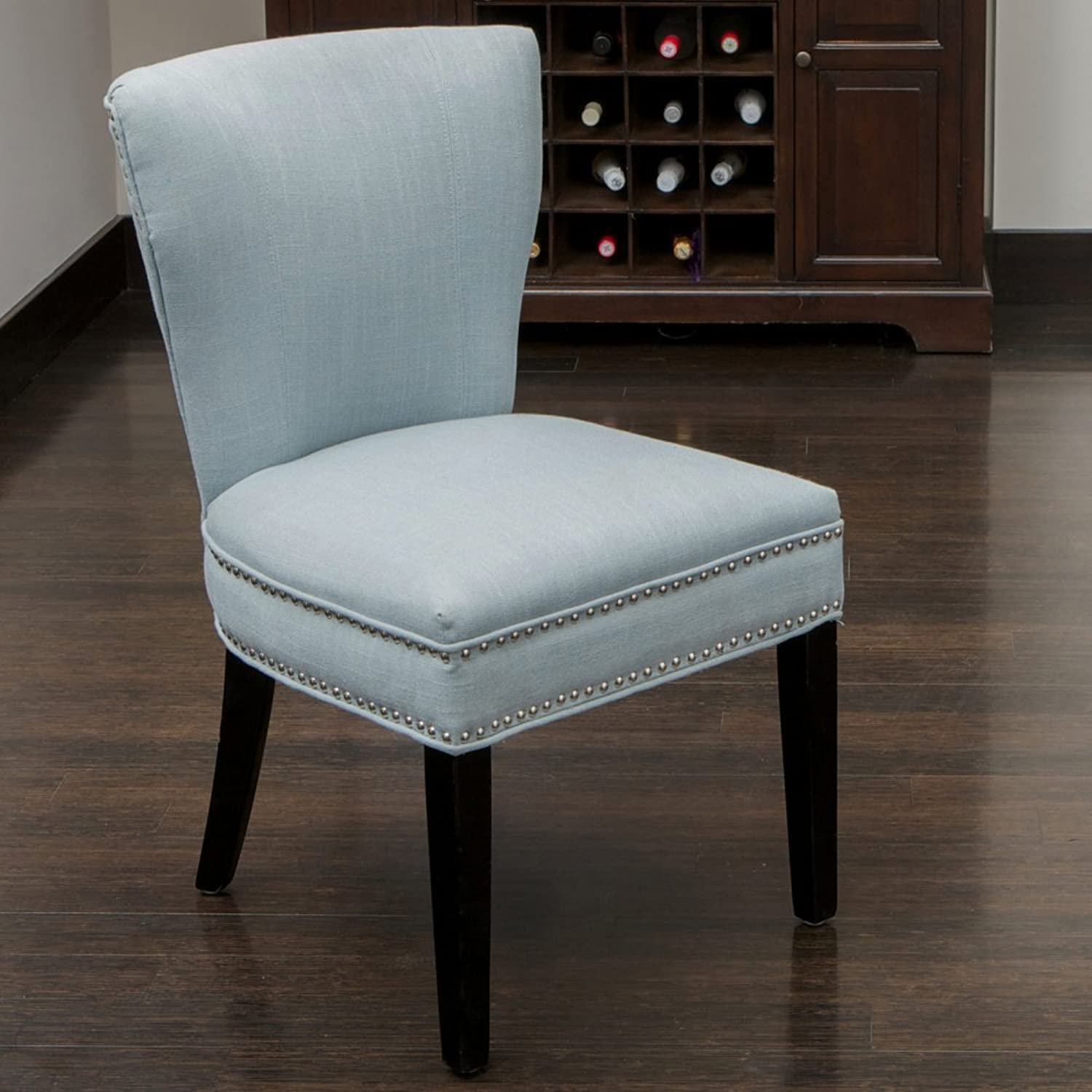 Best Selling Jackie Fabric Accent Dining Chair, Ocean bluee