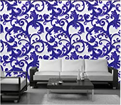 Papel Pintado Pared Tejido No Tejido Murales Arte De Patrón Geométrico Púrpura Papel De Pared 3D Fotográfico Decorativos P...