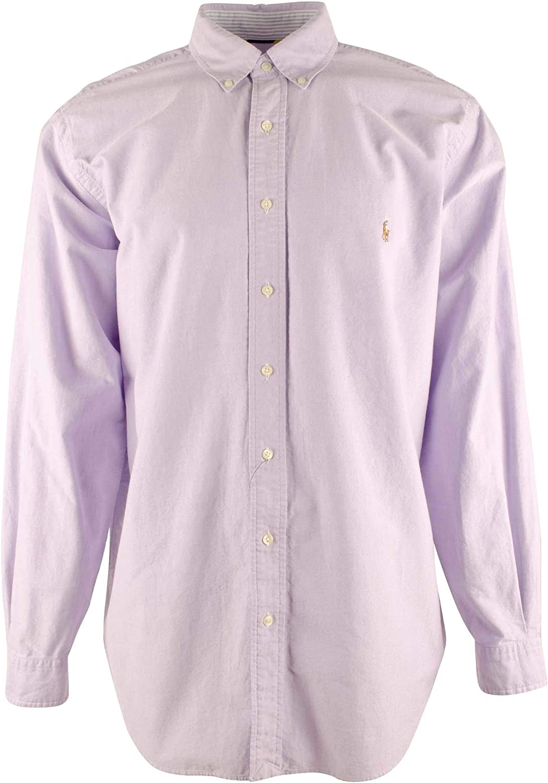 Polo Ralph Lauren Men's Big & Tall Solid Oxford Long Sleeve Shirt