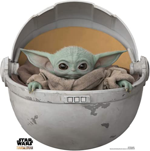 Star Cutouts Ltd SC1546 Baby Yoda en Vaina de cartón Recortado/Standee/Standup The Child The Mandalorian Star Wars Al...