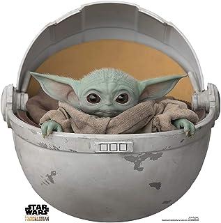 Star Cutouts Ltd SC1546 Baby Yoda en Vaina de cartón Recortado/Standee/Standup The Child The Mandalorian Star Wars Altura ...