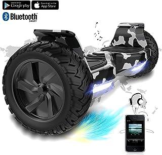 COLORWAY Hover Scooter Board SUV de 8,5 Pulgadas, Todo Terreno 700 W, Función App, Bluetooth y LED, Equilibrio Automático de Patinete Eléctrico para Niños y Adultos