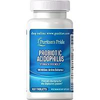 Deals on Puritans Pride Probiotic Acidophilus 100-Capsule