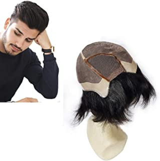 Majik Free Size Full Head Natural Human Hair Wig For Men And Boys With Free Hair Dryer (Dark Brown)