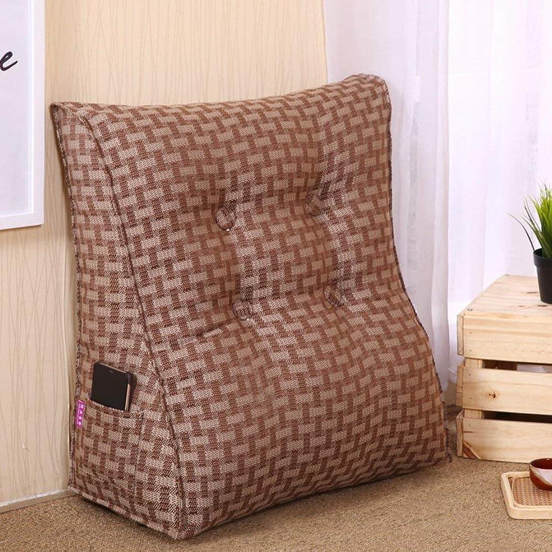 絞る侵入する権威2J-QingYun Trade ベッドサイド三角ウェッジ、背もたれクッション枕ソファ枕ウエストクッションマット取り外し可能な背もたれクッション (Color : C, サイズ : 60x55x25cm(24x22x10inch))
