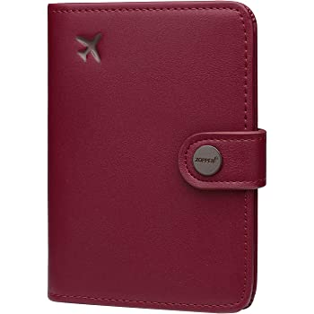 Abstract Pink Genuine Leather Passport Holder Wallet Case Cover for Men Women