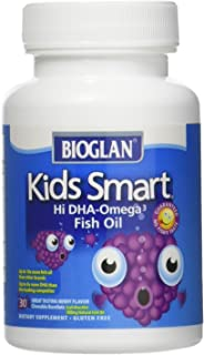 Bioglan Kids Smart Omega 3 Fish Oil, 30 Chewable Burstlets